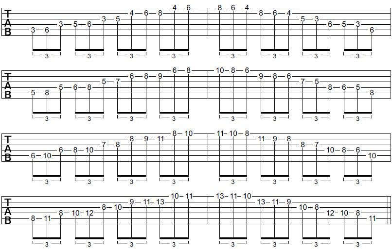 triad sheet guitar